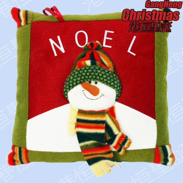 Free shpping, 30*30cm Christmas throw pillow, decorations,Christmas gifts, santa snowman and reindeer pattern(China (Mainland))
