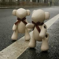 Joint bear bow heavly handmade dolls free air mail