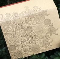 Cowhide paper decoration envelope greeting card storage 20 pcs free air mail