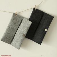 Mupu brief elegant wool felt magnetic buckle folding pencil storage bag glasses bag free air mail