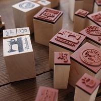 Baby pig gift zakka vintage series stamp seal inkpad free air mail