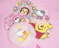 fashion kawaii practical cartoon plastic children bath cap  10pcs/lot  style random