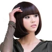 Free shipping Steel comb wig girls short hair fluffy short straight hair wig women's prettifier