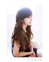 Free shipping Long curly hair fluffy repair big wave women's wig