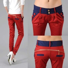 Free shipping  2013 Newest Style Women 's Long Fashion Slim Formal Trousers , Ol Ladies ' Pants,w29(China (Mainland))