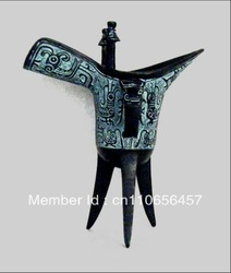 FengWenJue,Antique bronze sculpture,Chinese ancient wine vessel(China (Mainland))