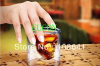 Free Shipping+ Doomed Crystal Skull Shot Glass/Crystal Skull Head Vodka Shot Wine Glass Novelty Cup,500pcs/Lots