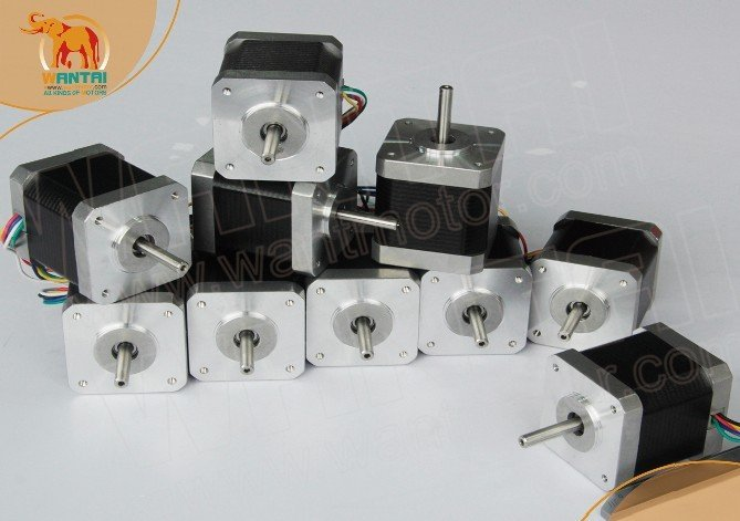 USA Free! Wantai 10 PCS Nema 17 Stepper Motor 42BYGHW609 56oz-in 40mm 1.7A CE ROSH ISO CNC Router Plasma Grind Foam Embroidery(China (Mainland))
