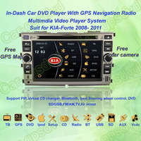Free Shipping! 2008- 2011 Kia Forte GPS Navigation DVD Player ,TV,Multimedia Video Player system+Free GPS map+Free camera