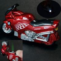 Windproof Motorcycle Motor Bike Racing Cigarette Gas Lighter & LED Light Gift