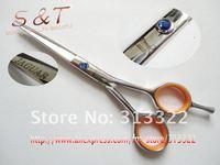 "5.5"" Beauty Hair Cutting Razor Scissors,Hairdressing Scissors,Barber Shears 440C Blue Diamond Screw with a Beauty signle box"