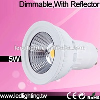 Reflector 2700K COB CRI>85 gu10 led 2700k dimmable