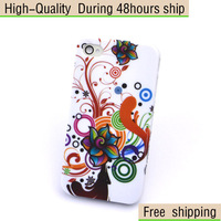 New Flower Butterfly Colorful Priinting Plastic Hard Case for iPhone 4 4G 4S Free Shipping UPS DHL EMS HKPAM CPAM JF-81