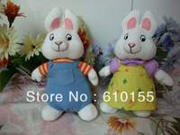 Fast free shipping , max&ruby beanie baby ruby the rabbit 2pcs/lot  top quality Christmas gift retail and wholesale