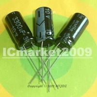 100 PCS 3300uF/10V 10*22mm DIP-2 10V 3300uF Aluminum Electrolytic Capacitor 3300uF 10V