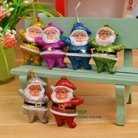 30pcs/lot Free Shipping Hot Sale Christmas decoration Pendant Color Santa Claus Xmas Tree ornaments m025