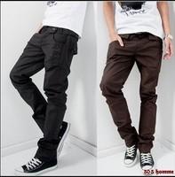 Free Shipping Mens Korean Casual Cotton pants Mens Cotton Trousers 3 Color Double Waist Design