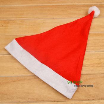 10pcs/lot Free Shipping Hot Sale Christmas Dress Santa Claus Cap Christmas Hat m026
