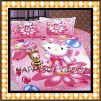Hello kitty Three-piece Cartoon Single Bedding Set Gift Wholesale Free Shipping