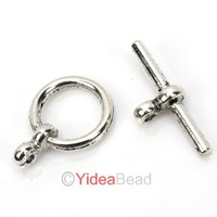 Free Ship 160pcs Wholesale Silver Tone Toggle Clasp Jewellery Findings 261018