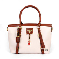 FLYING BIRDS 2012 fashion solid color pattern bear charm portable women's handbag wrist length bag HD804