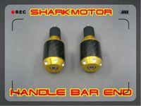 [Vic] gold Handlebar grip bar end of 17mm with carbon fiber