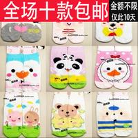 2012 sock hot-selling cartoon socks girls straight short boat socks pattern chromophous