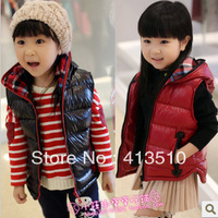 Autumn and winter female big ploughboys product shiny fashion vest thickening cotton-padded