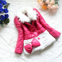Пуховик для девочек 5pcs/lot.Winter s fashion girls black and white simplicity draping leather sleeves cotton jackect