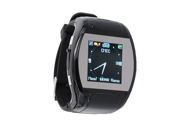 "MQ007 GSM Watch Phone with 1.3""Flat Touch LCD,1.3MP Pinhole Camera,MP3/MP4,FM"