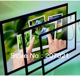 """Freeshipping 23"""" Dual touch IR infrared touch screen panel 16:9 frame Resolution 4096*4096 with glass"""