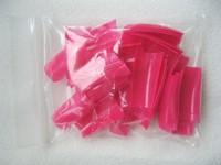 500PCS Tips 10 Sizes Rose Half Cover French False Nail Art Tips Acrylic UV Gel