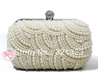 HOT!!!Free shipping Wholesale   pearl ladies clutch evening bags,party bags,wedding bags