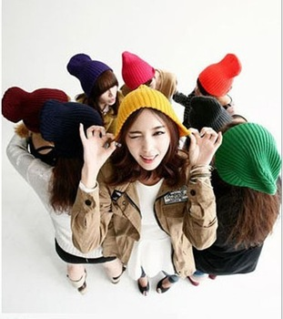 Winter New Arrival Fashion Female Women Lady's Knitting wool cap hat beanie berets caps Multicolor 40pcs/lot EMS DHL Free