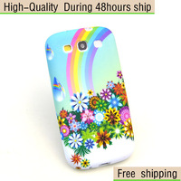 New Rubber Silicone TPU Gel Flower Soft Case Cover For Samsung Galaxy S3 SIII i9300 Free Shipping UPS DHL EMS HKPAM CPAM SD-83