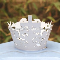 hot sell customizable disposable paper laser cut individual unique Easter cupcake wrappers for wholesale