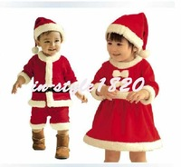 New Cute Baby Boys Girls Christmas Santa Claus Suit Costume Outfit set Christmas