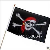 Halloween bar decorate a skull and crossbones pirates flagman wave flag pirates of the Caribbean banner 30 g