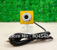 USB 30.0M 6 LED WEBCAM CAMERA WEB CAM MIC For Laptop Computer PC Yellow CA9