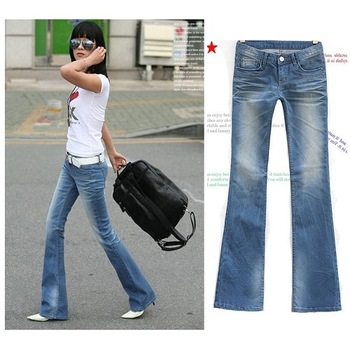 Free shipping , 2013 European Style Denim Light Color Water Wash Boot Cut Jeans , Ladies' Cool Autumn Slim pants.w48