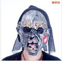 Halloween bar KTV party party equipment - full baotou black cloth towel mask