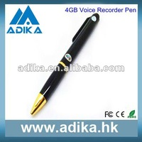 Pen Style 4GB Memeory Voice Recorder Factory Free Shipping ADK-DVR1002