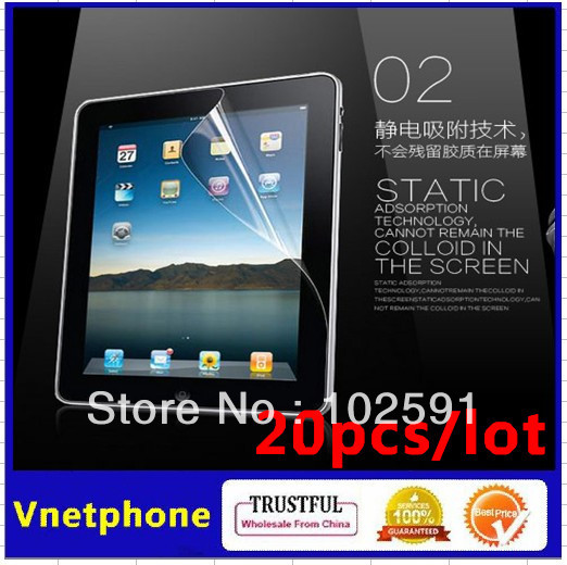 201211 Wholesale Price 20pcs/lot Screen Protector Transparent Clear LCD Screen for Apple iPad Mini(China (Mainland))