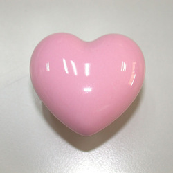20Pcs pink love heart ceramic knob porcelain furniture cartoon konb(China (Mainland))