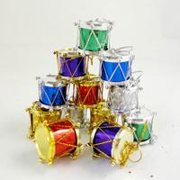 36pcs/lot Free Shipping Hot Sale Christmas Tree Decorations Color Merry Xmas Drum Pendant m033