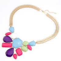 Колье-ошейник C058 fashion elegant vintage metal carved false collar metal collar necklace 61g