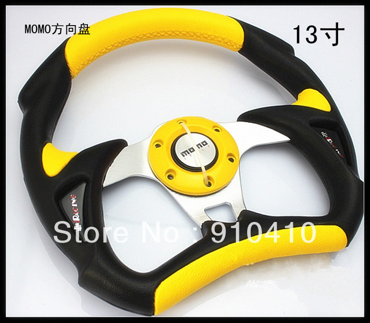 universal use MOMO car Steering Wheel 32.5cm +freeshipping(China (Mainland))