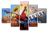 The music theme pop art    Free Shipping  Home Decoration Wall Art 100% Hand painted Oil Painting