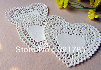 100 Pcs 4 Inch White Heart-shaped Paper Pad Cakes Pad Of Paper Lace Paper Pad