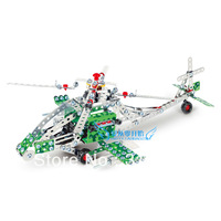 DIY Metal Alloy Assembled toy apache fighter OHDUDE toy Christmas gift